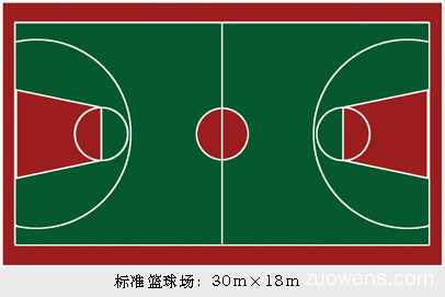 关于篮球场的作文