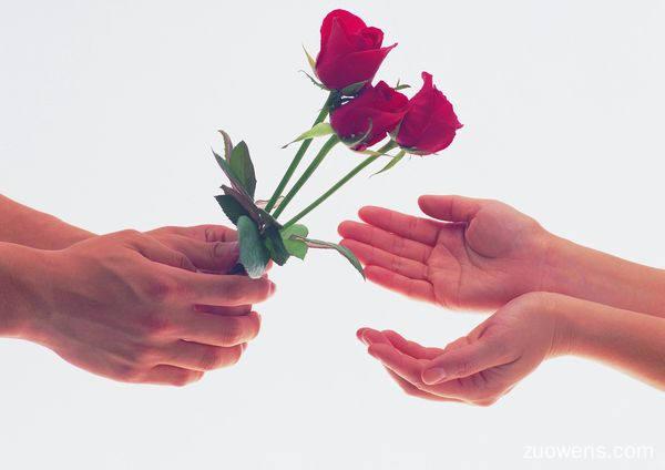 关于送花的作文