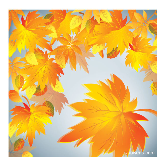 秋天的树叶作文250字