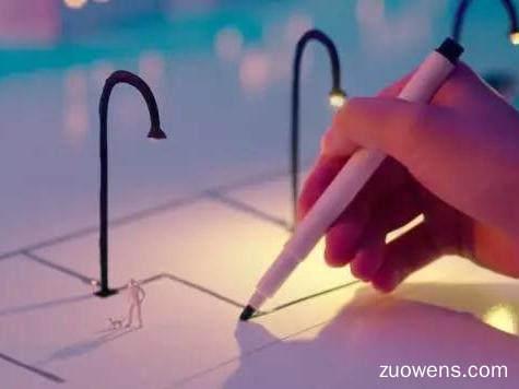 灯泡不用电线,用笔画一条线就可以,你信不信